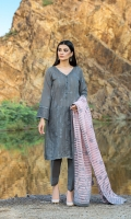 Dupatta:    Lawn Stipe Embroidered, 2.5 Meters Shirt Front:   1.15 Meter, Embroidered Shirt Back:    1.75 Meter Trouser:          2.5 Meters