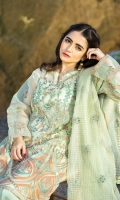 Dupatta:    Oraganza Check, ,2.5 Meters Shirt Front:   1.25 Meter, Embroidered Shirt Back:    1.75 Meters