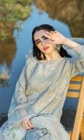 Dupatta:    Crinkle , 2.5 Meters Shirt Front:   1.25 Meter, Embroidered Shirt Back:    1.25 Meters  Sleeves:        01 Meters