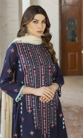 -Lawn Shirt Front 1.25 Mtr  -Lawn Shirt Back 1.75 Mtr  -Lawn Trouser 2.50 Mtr  -Sleeves from back  -Embroidered Lawn Dooria Dupatta