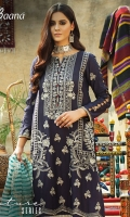 -Lawn Shirt Front 1 Mtr  -Lawn Shirt Back 1.5 Mtr  -Lawn Trouser 2.5 Mtr  -Sleeves from back  -Lawn Stripe Dupatta