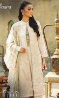 -Lawn Shirt Front 1.15 Mtr  -Lawn Shirt Back 1.75 Mtr  -Lawn Trouser 2.5 Mtr  -Sleeves from back  -Polyester Net Dupatta