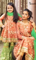 Embroidered zari and sequins work organza with attached lining along with jamawar straight pants and organza duppata.