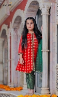 Soft pure embroidered chiffon with attached lining paired with jamawar pants and net kingri duppta