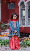 Zari sequin embroidered soft chiffon paired with jamawar gharara and net kingri duppta