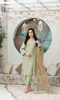 Exclusive Semi-Stitched Heavy Fancy Embroidered Jacquard Lawn Shirt Exclusive Fancy Dupattas Plain Dyed Shalwar