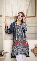Stylish & Attractive Stitched Digital Printed Mirror Work Embroidered Lawn Kurti Designs in 3 different sizes (Small, Medium & Large)