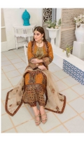 Semi Stitched Embroidered Crinkle shirt  Embroidered Net Dupatta  Printed Viscose Trouser