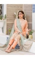 Semi Stitched Embroidered Crinkle shirt  Embroidered Net Dupatta  Plain Viscose Trouser