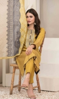 Un-Stitched Lawn Banarsi Shirt with Patch Work Embroidery Designs Exclusive Fancy Heavy Embroidered Dupattas Plain Dyed Shalwar