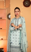 Semi-stitched Fancy Embroidered Jacquard Lawn Shirt Embroidered Fancy Dupattas Unstitched Cambric Shalwar