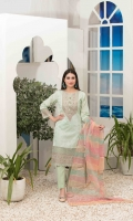 Semi-Stitched Embroidered Schiffli Lawn Shirt Designs Exclusive Fancy Embroidered/Printed Dupattas Unstitched Cambric Shalwars
