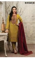 - Embroidered Khaddar Banarsi Shirts with Mirrorwork on Daman  - Fancy Khaddar Banarsi Dupatta  - Plain Dyed Shalwar