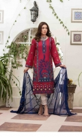 - Embroidered Jacquard Lawn fabric for shirt  - Fancy Embroidered fabric for dupatta  - Dyed Embroidered fabric for Trouser/Shalwar