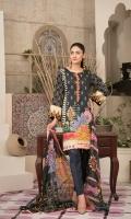 – Stitched Lawn Banarsi Digital Print Designs with 3 different Sizes (Small, Medium & Large) – Digital Chiffon Dupattas – Plain Dyed Cambric Shalwar