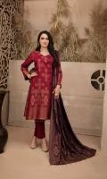 - Unstitched Three Colour Broshia Banarsi Linen Designs Shirts   - Contrast Three Colour Broshia Dupattas   - Plain Dyed Shalwar