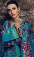 3 Piece Embroidered Suit Shirt : Dyed Lawn Dupatta : Digital Printed Silk Sleeves: Dyed Lawn Trouser : Dyed BORDER Digital Printed Border For Front,Back & Sleeves EMBROIDERY Full Front Embroidered Shirt Embroidered Sleeves