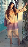 3 Piece Embroidered Suit Shirt : Digital Printed Lawn Dupatta : Digital Printed Silk Sleeves Digital Printed Lawn Trouser : Dyed EMBROIDERY Embroidered Gala Embroidered Border For Front Embroidered Border For Sleeves  Embroidered Border For Trouser