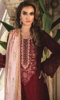 Embroidered Chiffon Unstitched 3 Piece Suit