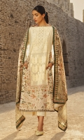 SHIRT: LAWN DIGITAL PRINTED EMBROIDERED  DUPATTA: VOILE DIGITAL PRINTED DUPATTA  SHALWAR: JACQUARD DOBBY DYED