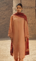 Lawn 3 piece embroidered shirt with printed lawn dupatta and plain dobby trouser.