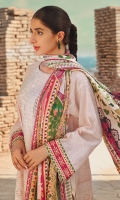 SHIRT :JACQUARD DIGITAL PRINTED EMBROIDERED  DUPATTA : PURE SILK DIGITAL PRINTED DUPATTA  SHALWAR: JACQUARD DOBBY DYED EMBROIDRED