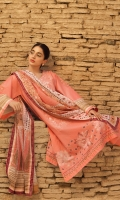SHIRT :DOBBY DIGITAL PRINTED EMBROIDERED  DUPATTA: VOILE DIGITAL PRINTED DUPATTA  SHALWAR: JACQUARD DOBBY DYED