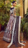 Velvet Embroidered Lehanga And Blouse