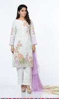 Fabric Shirt: Lawn 3.65 M Fabric Dupatta: Chiffon 2.5 M