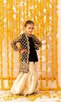 Embroidered Net Gown Jamawar Garara Chiffon Dupatta