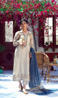 Motia A beautiful symphony of ethereal works dipped in ivory hues; an encapsulation of delicacy- Jashan-e-Baharan is a prefect luxe pret narration by Umsha Couture for this celebratory season!     4 Piece Suit.