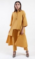 Our Cosima Dress Is An Easy Breezy Style That's Sure To Uplift Your Mood A Solid-Hued Kurta With Matching Trouser Encrusted In Cotton Fabric It Features A Pretty Cutline In Cool Mustard Color A Delicate Piece For The Perfect Summer Look