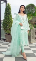 A beautifully crafted Embroidered shirt on a canvas of ice blue Layered over a Raw Silk Inner and straight trousers This is a classically elegant festive look