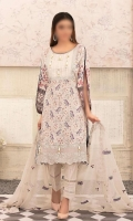 Digital Printed Lawn suit with Cutwork Embroidered Bamber Chffon Dupatta