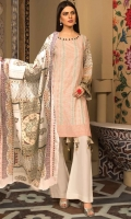3PC Lawn Chikan Kari with Printed & Embroidered Lawn Dupatta