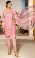 Shirt : Embroidered Lawn Front with Cut Work, Digital Printed Lawn Back & Sleeves Trouser: Dyed Cotton Trouser with Embroidered Patch  Dupatta: Digital Printed Bamber Dupatta