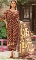 Shirt Fabric: Khaddar   Shirt Size: 2.5 meters Dupatta Fabric: Khaddar   Dupatta Size: 2.5 meters Trouser Fabric: Khaddar   Trouser Size: 2.5 meters
