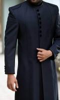 Suiting Formal Sherwani in Navy Blue