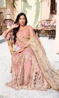 EMBROIDERED NET YOKE FRONT 24 INCHES EMBROIDERED NET YOKE BACK 24 INCHES EMBROIDERED NET FRONT PANEL 48 INCHES EMBROIDERED NET BACK PANEL 48 INCHES NET SLEEVES 22 INCHES EMBROIDERED NET DUPATTA 2.75 YDS RAWSILK TROUSER 2.5 YDS