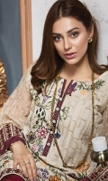 Embroidered Khaadi Net Stitched 2 Piece Suit