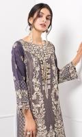 MASOORI KHADI NET SHIRT RAW SILK TROUSERS (LINING & ACCESSORIES INCLUDED)