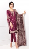 EMBROIDERED RAW SILK SHIRT CRINKLE CHIFFON EMBROIDERED DUPATA RAW SILK TROUSERS (ACCESSORIES INCLUDED)