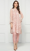 PURE CRINKLE CHIFFON EMBROIDERED SHIRT RAW SILK PANTS LINING & ACCESSORIES (INCLUDED)