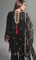 Embroidered Poly Net Unstitched 3 Piece Suit