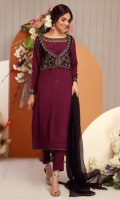 Embroidered Pret 3 Piece Velvet Suit