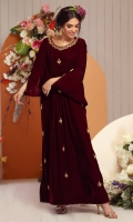 Embroidered Pret 1 Piece Velvet Kaftan