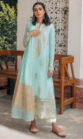 EMBROIDERED SHIRT FRONT (LAWN) 1.00 METERS DYED SHIRT BACK (LAWN) 1.00 METERS EMBROIDERED SHIRT SLEEVES (LAWN) 0.67 METERS DYED TROUSER (COTTON) 2.50 METERS YARN DYED DUPATTA (COTTON NET) 2.50 METERS EMBROIDERED NECK & PATCH (ORGANZA) 1 PIECE EMBROIDERED FRONT & BACK BORDER (ORGANZA) 2.00 METERS