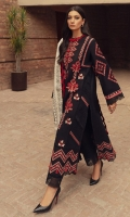 Embroidered Front (Khaddar) 1.3 Meters                                                            Embroidered Sleeves (Khaddar) 1.3 Meters                                                              Embroidered Sleeve Border (Khaddar) 1 Meter Embroidered Front & Back Border (Khaddar) 2 Meters Dyed Back (Khaddar) 1.3 Meters Dyed Trouser (Khaddar) 2.5 Meters Screen Printed Shawl (Viscose Net) 2.5 Meters