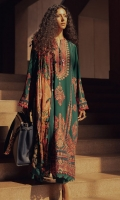 Embroidered Front Center Panel (Khaddar) 1 Piece Embroidered Front (Left+Right) Side Panels (Khaddar) 1 Pair Embroidered Sleeves (Khaddar) 1.3 Meters Embroidered Sleeves & Back Border (Khaddar) 2 Meters Embroidered Front HEM Border (Khaddar) 1 Meter Dyed Back (Khaddar) 1.3 Meters Dyed Trouser (Khaddar) 2.5 Meters Digital Printed Shawl (Cotton Net) 2.5 Meters