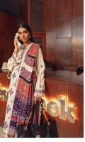 Embroidered Front Center Panel (Khaddar) 1 Piece Embroidered Front (Left+Right) Side Panels (Khaddar) 1 Pair Embroidered Sleeves (Khaddar) 1.3 Meters Embroidered Front & Back Border (Khaddar) 2 Meters Dyed Back (Khaddar) 1.3 Meters Dyed Trouser (Khaddar) 2.5 Meters Digital Printed Shawl (Cotton Net) 2.5 Meters